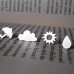 sterling silver weather forecast ear studs (1 pair) by Huiyi Tan