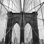 image of Brooklyn Bridge and cables